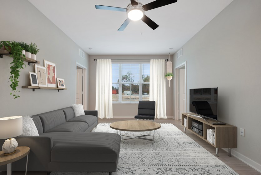 Living Room with Utilities