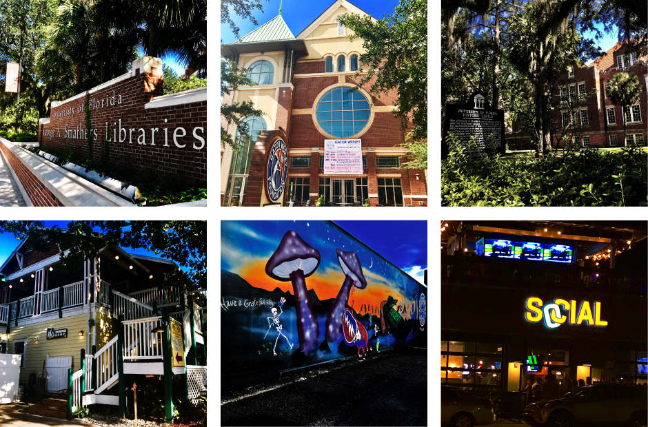 Collage of Photos in Midtown by the University of Florida