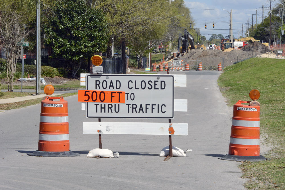 Picture of Depot Road in Gainesville closed for construction